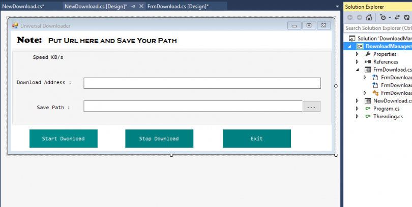 Universal Downloader In C Window Application With Source Code Free Download Techprofree